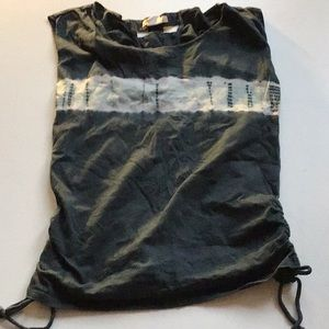 Billabong tie dye ruched top